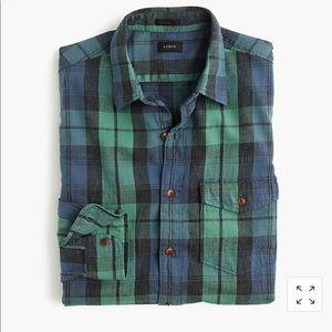 J. Crew Slim Flannel Plaid Striped Shirt